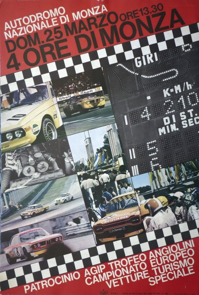 Monza 4 Hours 1973 Photo Gallery Racing Sports Cars