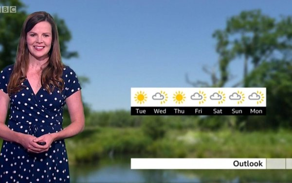 Alexis Green on BBC Weather