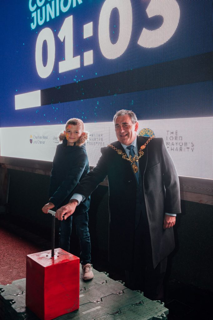 Lord Mayor at Chester fundraising fireworks event