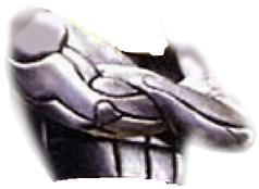 peito e braços estátua