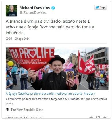 dawkins aborto igreja