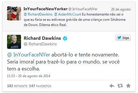 dawkins conselho aborto