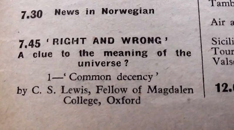 Certo e Errado - Uma pista para o sentido do Universo, por C.S. Lewis