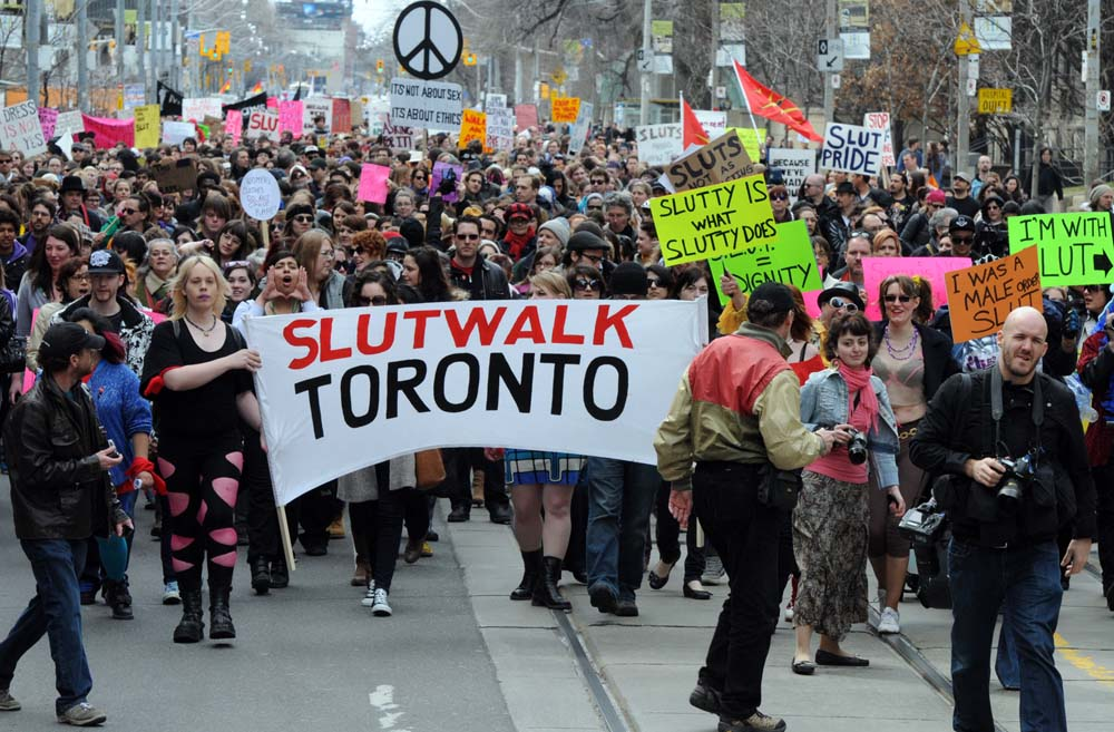 A picture from a SlutWalk in Toronto