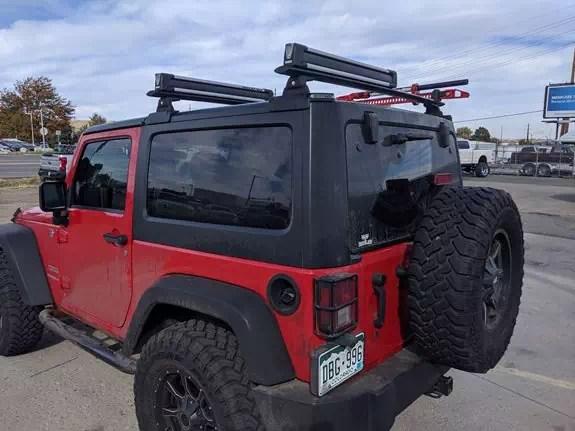 jeep wrangler jk hardtop 2dr rack