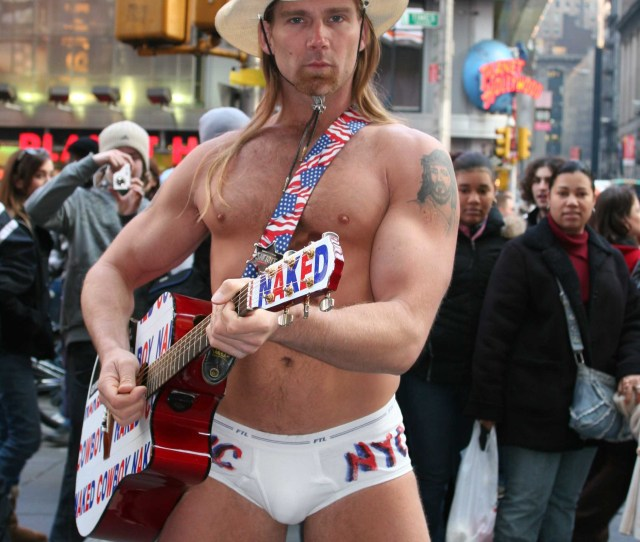 The Naked Cowboy Underwear Muscles Ass Grabs Being The King