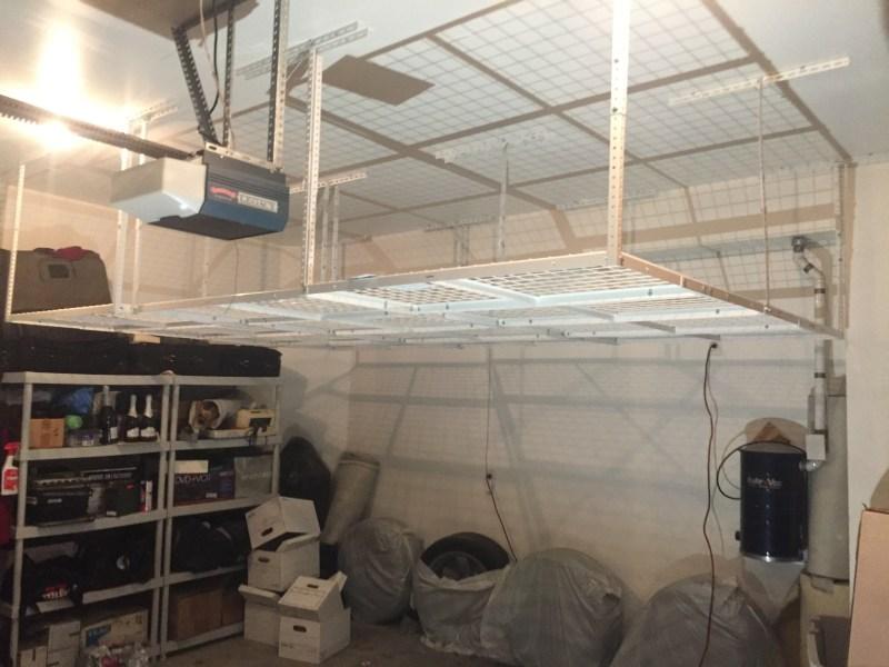 Ceiling storage racks
