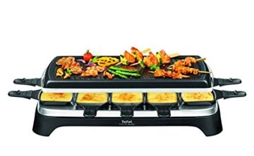 tefal re4588 raclette grill fur 10 personen edelstahl schwarz beschreibung