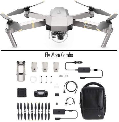 Drone Mavic Pro Combo Platinum Portable 3