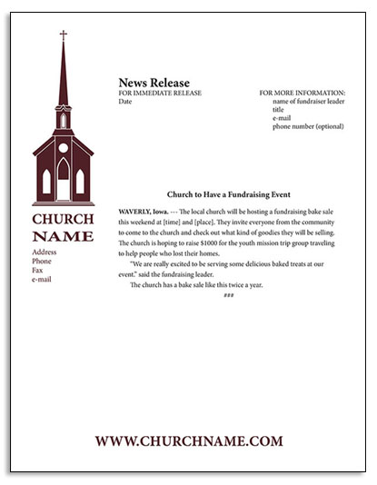 how to write appreciation letter to church