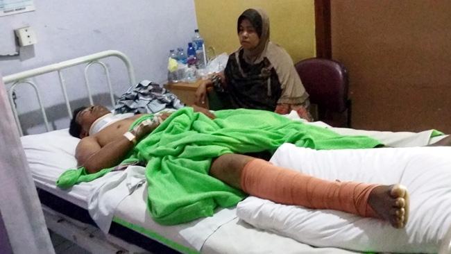 (Dok. Disnaker) Sanusi, salah seorang korban laka kerja di PT KOS