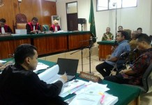 sidang kasus suap pembentukan Bank Banten di pengadilan Tindak Pidana Korupsi (Tipikor) Serang, Selasa (3/5/2016)
