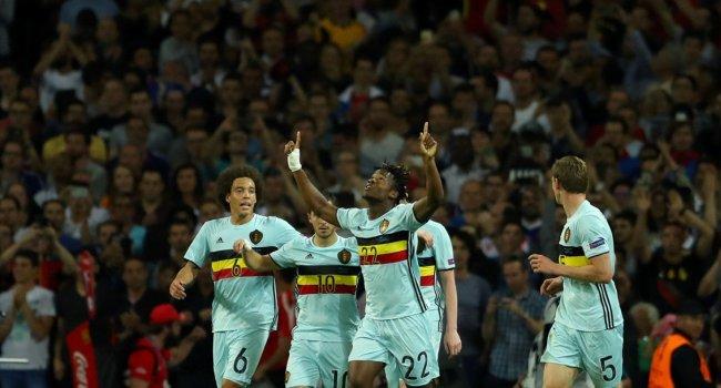 Batshuayi menjadi salah satu pencetak gol Belgia. (@UEFAEuro)
