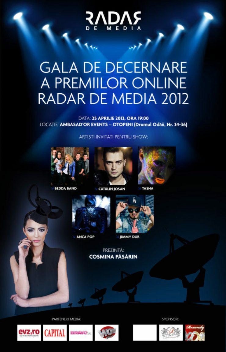 Gala Premiilor RADAR DE MEDIA 2013 afis