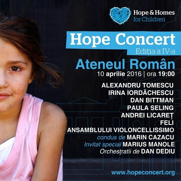 afis Hope Concert simplu
