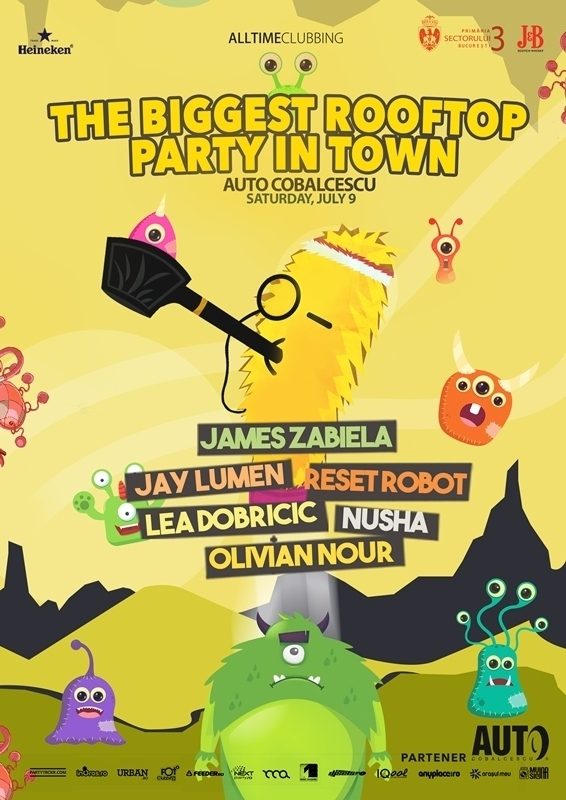 The Biggest Rooftop Party in Town Bucuresti