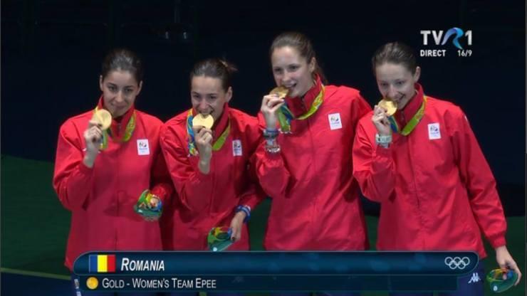 romania medalie de aur spada RIO 2016 - TVR 1 (1)