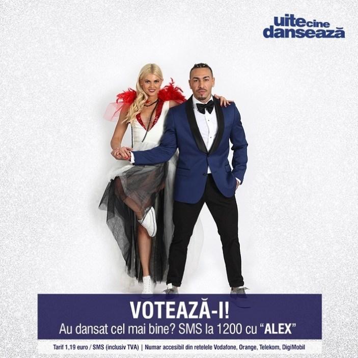 Alex Velea si Ecaterina Dosan UITE CINE DANSEAZA PRO TV