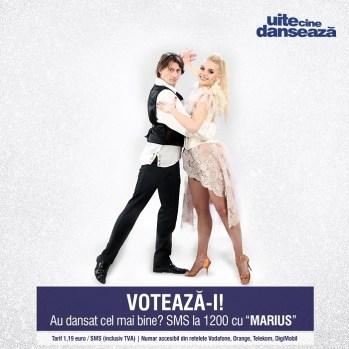 Marius Manole si Olesea Miculea UITE CINE DANSEAZA PRO TV