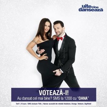 Oana Zavoranu si Daniel Dobre UITE CINE DANSEAZA PRO TV