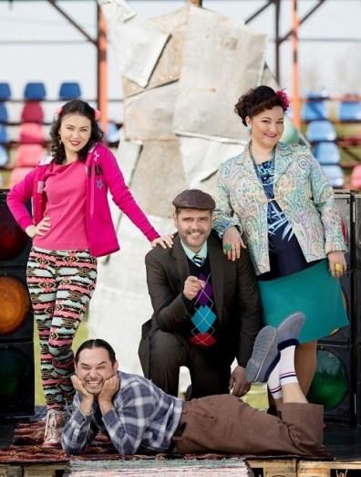 Gianina, Dorel, Vasile si Dalida LAS FIERBINTI