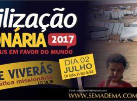 Secretaria de Missões da AD no Maranhão convoca igrejas para Mobilização Missionária