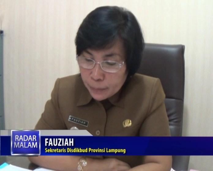 Fauziah Sekretaris Disdikbud Provinsi Lampung