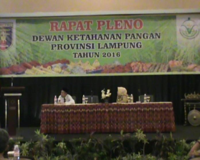 Target Ketahanan Pangan Lampung Unggul