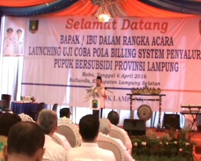 Pemprov Lampung Luncurkan Program Billing Penyaluran Pupuk Bersubsidi
