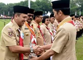 Gubernur Lampung M.Ridho Ficardo menerima penghargaan sebagai Kamabida Peduli