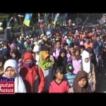 Ribuan Peserta Meriahkan Jalan Sehat Radar Lamteng dan Pemkab Lamteng (Lipsus 7 M)