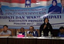 Gelar Pleno,PAN Mantap Usung Siti Rahma – Edi Agus Yanto