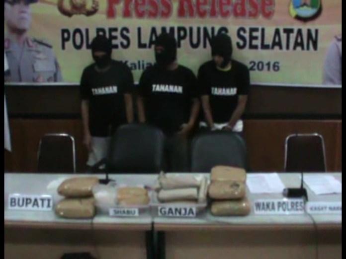 Polres Lamsel Gagalkan Penyelundupan Dua Kg Sabu-Sabu