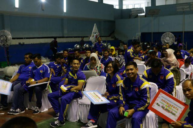 Gubernur Lampung Berikan Tali Asih Atlet dan Pelatih Peraih Medali PON XIX