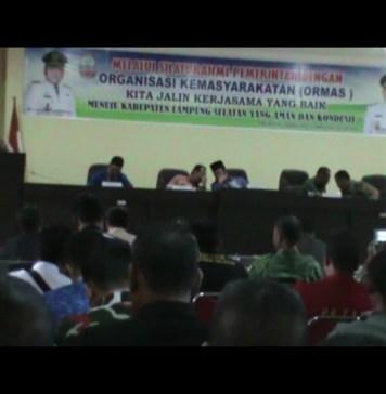 Organisasi Masyarakat di Lampung Selatan Diminta Didata Ulang