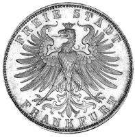 Frankfurt silver gulden of 1863