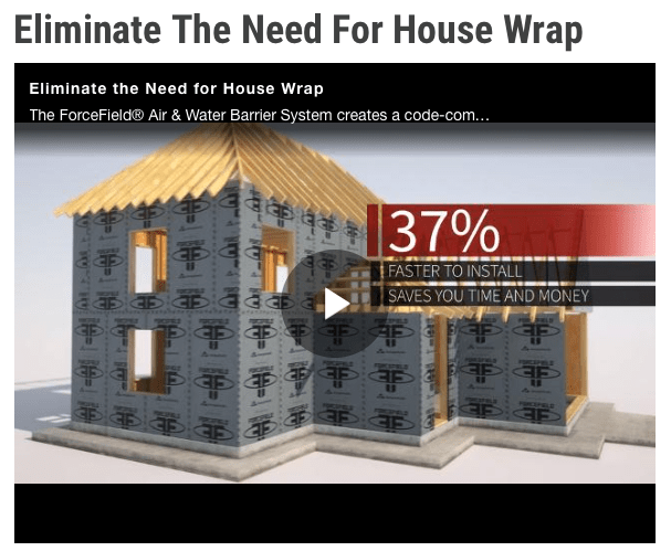 Eliminate the Need for House Wrap - Rader HD