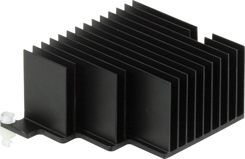 Machined and extruded heatsink