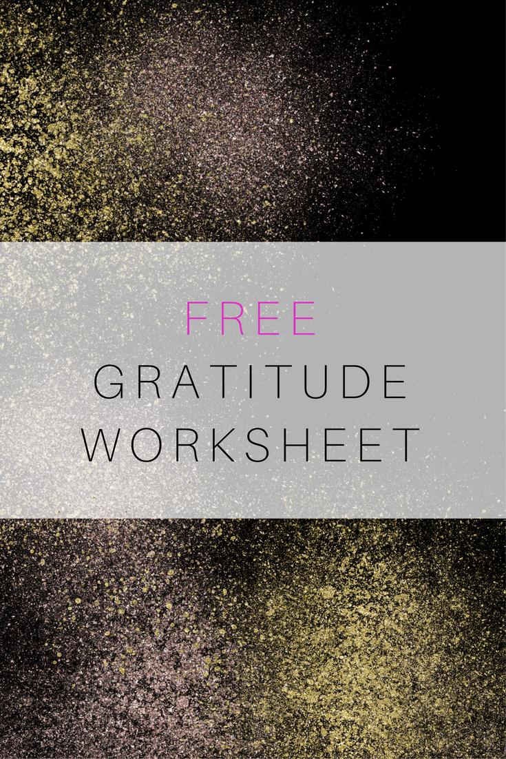gratitude worksheet