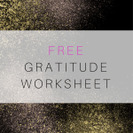 Mental Health Resources: Gratitude Worksheet