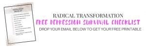 depression survival checklist