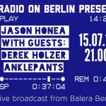 Jason Honea presents -Wednesday 15 July, Live Interview w/Derek Holzer and Anklepants.