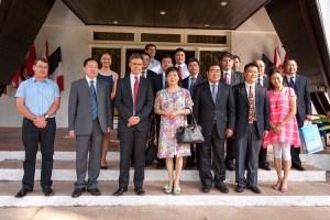 La délégation chinoise au Haut-commissariat ©Cédric VALAX