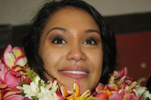 Miss Tahiti 2014 Hinarere Taputu