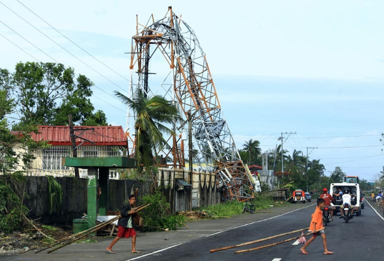 Dégats occasionnés par le typhon Nock-Ten le 26 décembre 2016 à Polangui dans la province d'Albay aux Philippines. © AFP