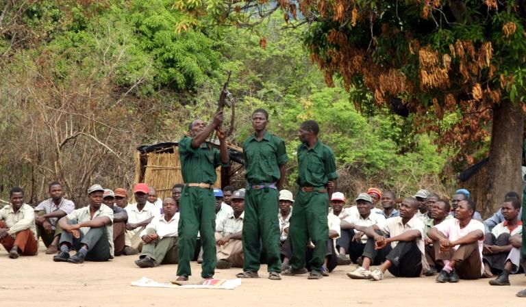 Des combattants de l'opposition mozambicaine