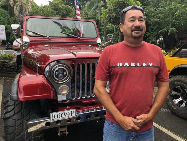 Teva Urima, président de la team Tahiti Jeep