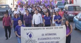 CONMEMORAN EN SANTA ROSALÍA EL DÍA DE LA NO VIOLENCIA CONTRA LAS MUJERES Y LAS NIÑAS