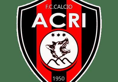 """FC CALCIO ACRI: """"IL NOSTRO ERRORE È AVER CONCESSO MOLTA FIDUCIA """""""