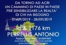 Da Torino ad Acri a piedi per beneficenza